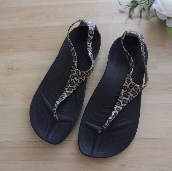 fabrycznie autentyczne nowy wygląd lepszy Crocs Sexi Flip Leopard Wild Sz 8 Cheetah Sandals